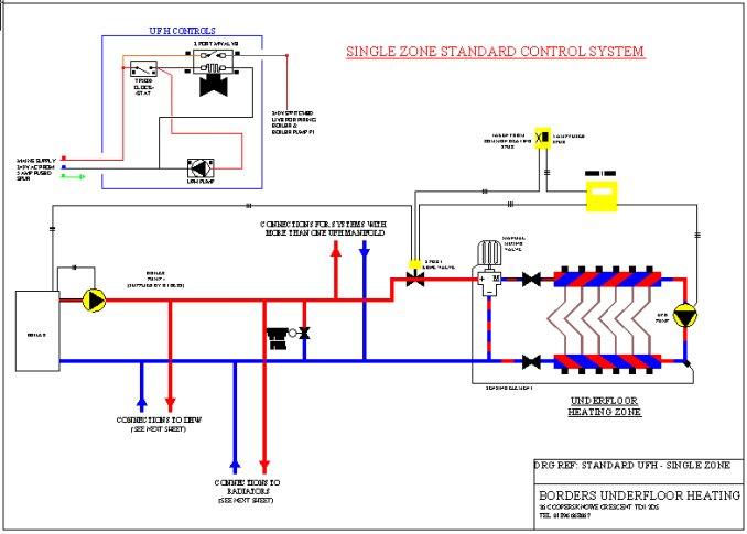 Single Zone Underfloor Heating Wiring Diagram - Example Electrical ...